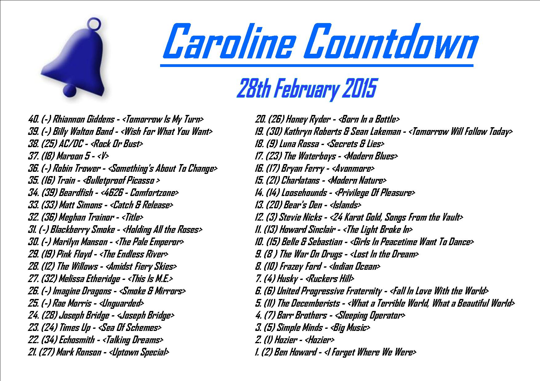 caroline countdown 2 28.2.15